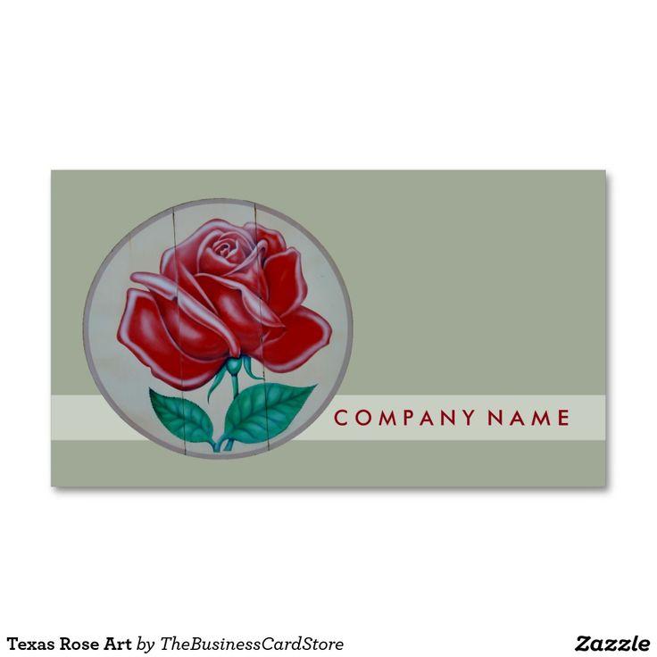 Texas Rose Art Standard Business Card