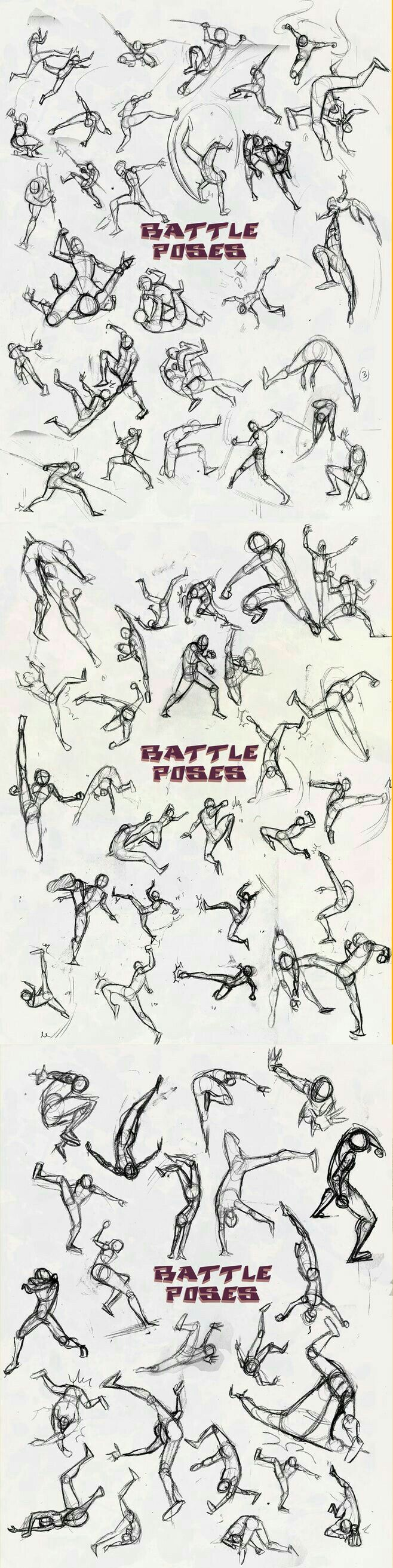 Battle Poses, text, positions; How to Draw Manga/Anime