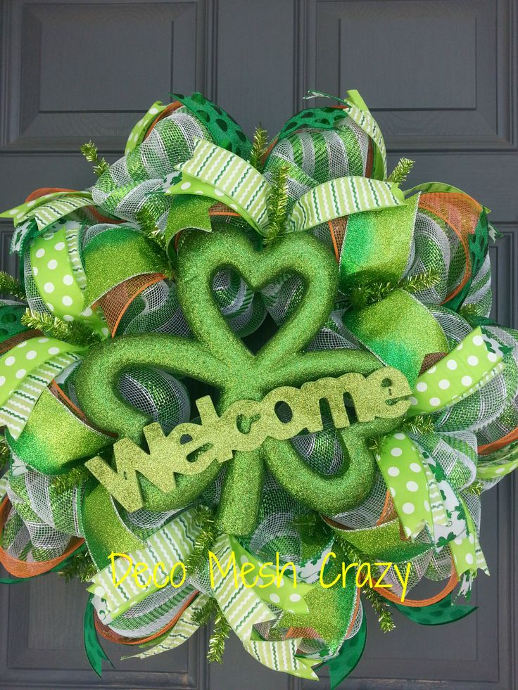 1000 images about st patrick 39 s day wreaths on pinterest. Black Bedroom Furniture Sets. Home Design Ideas