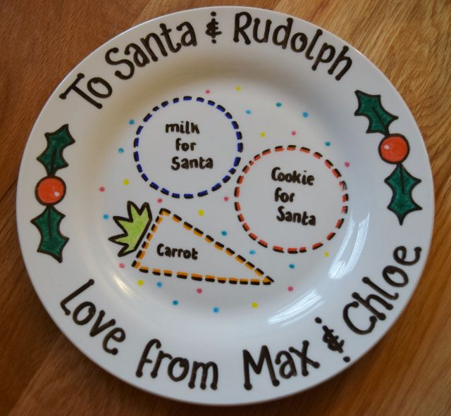 Christmas Eve Plate from Lovingly Crafted