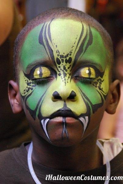 snake face makeup for Halloween - Halloween Costumes 2013