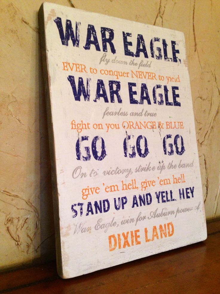 Auburn fight song vintage wood wall hanging 11x14 by CatherineBruceDesign on Etsy https://www.etsy.com/listing/187756629/auburn-fight-song-vintage-wood-wall