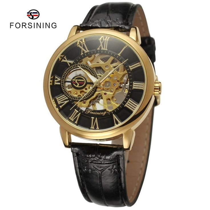 Find More Mechanical Watches Information about 6 Colors FORSINING Luxury 3d Roman Men Skeleton Mechanical Watch relogio masculino Gold Case Leather Men's Watches montre homme,High Quality watch band ipod nano,China mens watch swiss Suppliers, Cheap men automatic watch from YIKOO Watches Store on Aliexpress.com