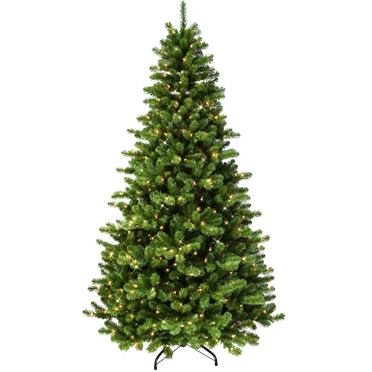 Holiday Living 7 5 Ft Pre Lit Montana Spruce Slim Artificial Christmas Tree With 800 Constant Warm White Led Lights Lowes Com Slim Artificial Christmas Trees Christmas Tree White Led Lights Pre lit rotating christmas tree