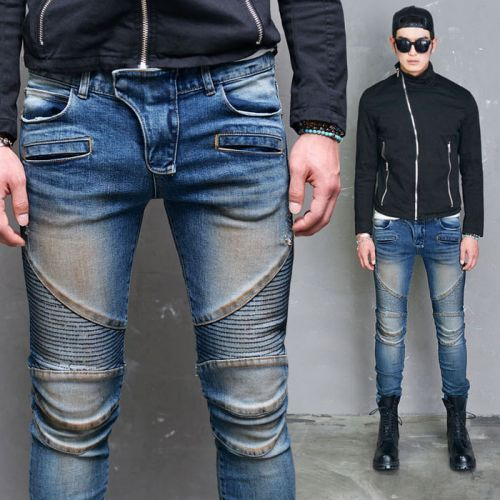 Real Designer Skinny Seaming Biker Jeans 254 via SNEAKERJEANS STREETWEAR SHOP