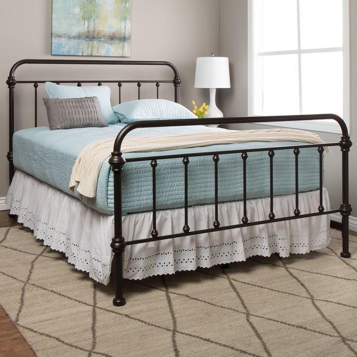 Giselle Antique Graceful Dark Bronze Victorian Iron Bed By