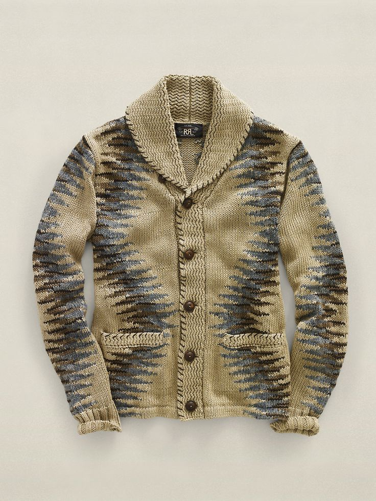 cotton linen rug shawl cardigan // RRL
