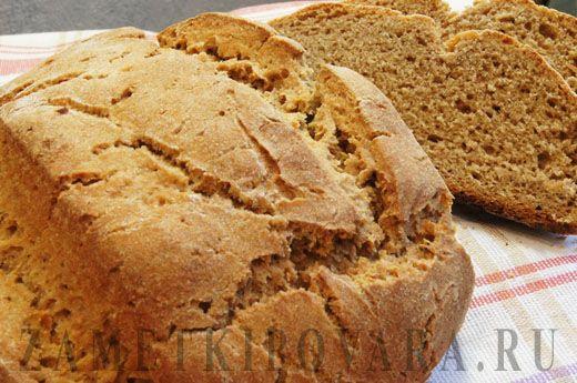 Бездрожжевой хлеб из цельнозерновой муки