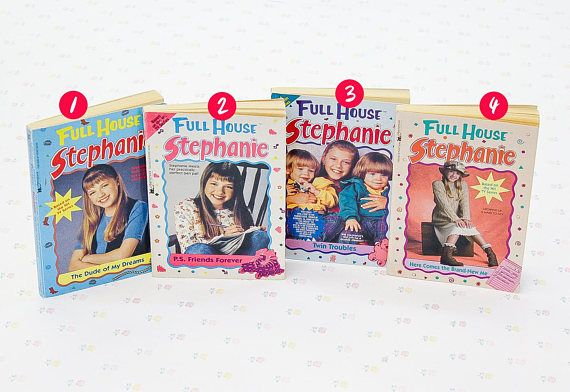 "We have 43 Full House books up for grabs! Most of them are from the ""Stephanie"" book collection, but a few are from Michelle or both of the girls. Browse through the photos to see the whole collection. When you purchase, just leave a note to let us know which book you want. Please"