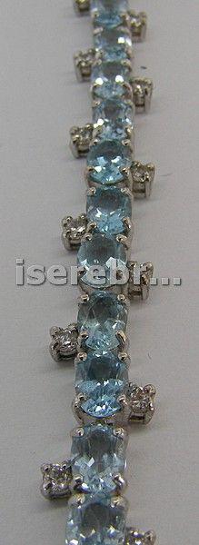 Серебряный браслет с вставкой из топаза - 2340 грн 20 см