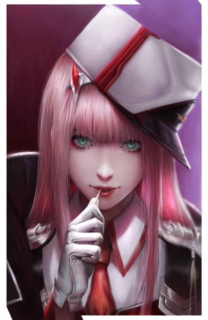 [Darling in the Frankxx] Zero Two, Viet Le Quoc on ArtStation at https://www.artstation.com/artwork/zLBEd