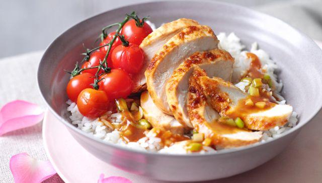 Filete de pechuga de pollo en salsa de naranja y jengibre - Pechuga d pollo en salsa ...