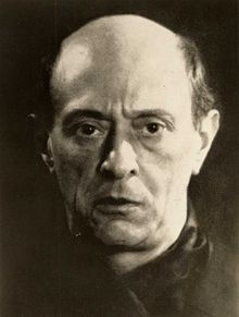 """Arnold Schoenberg (1874-1951) - Austrian composer who led the """"Second Viennese School"""" and developed the famous (or infamous) Twelve Tone System."""
