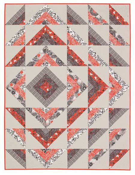 "Timeless Treasures Serafina Ripple Quilt Kit. 48"" x 64"""