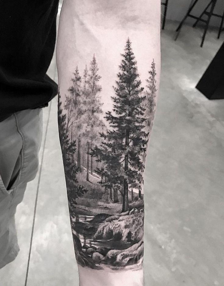 Tolle Waldlandschaft für Ärmel Tattoo! 🏞🌲 #armel #tattoo #tolle #waldlandschaft