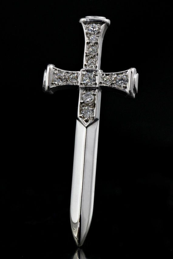 Handmade Sword 925 Sterling Silver with Cubic by ZografosCrosses, €20.00