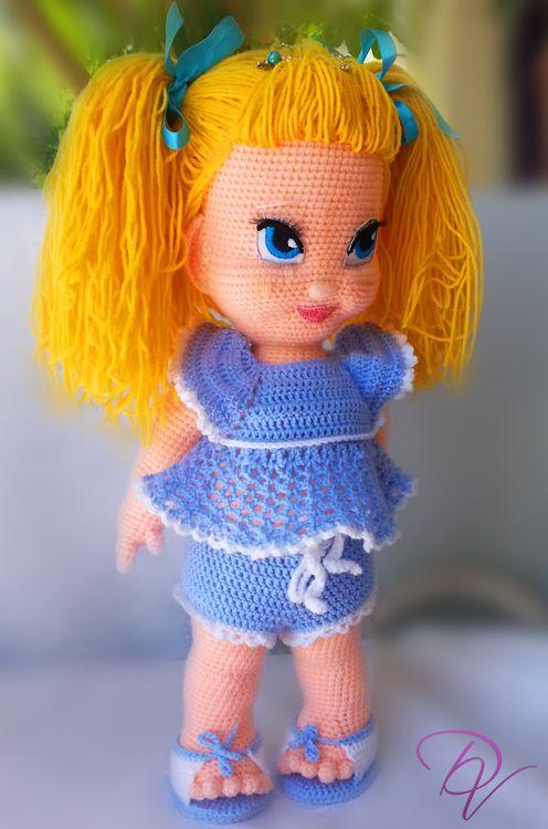Crochet Doll - Masha #crochet #doll #amigurumi #amigurumidoll #crochetdoll ☆