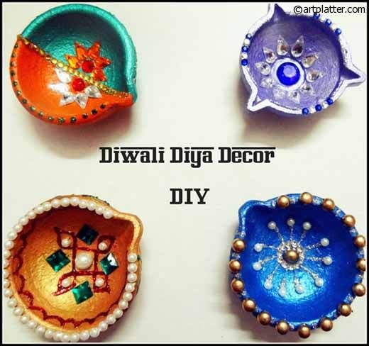 Decorative Diyas for Diwali – Metallic Shades
