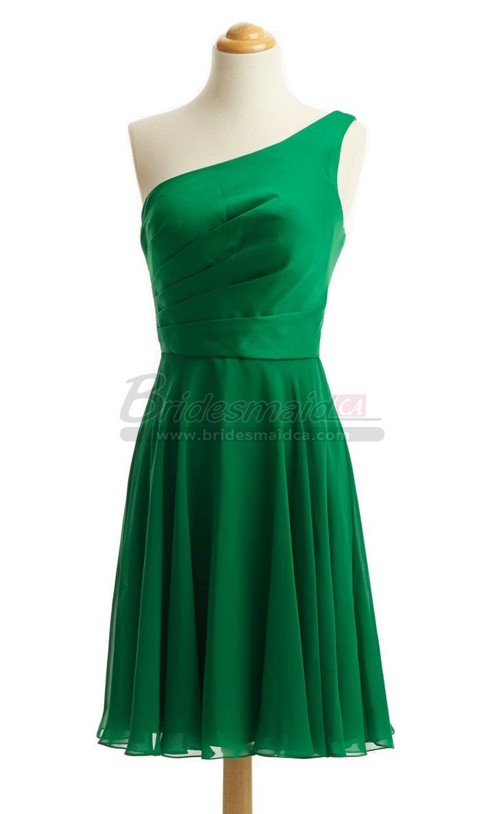 Best 25 one shoulder bridesmaid dresses ideas only on pinterest green chiffon short one shoulder bridesmaid dress in green chiffon dresses bds ca444 bridesmaidca ombrellifo Images
