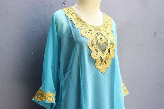 Exclusive Caftan Dress With Fancy Gold Embroidery Great for Wedding Bridesmaid Party Summer Kaftan Maxi Dress. Made From Super Chiffon Quality.  For those