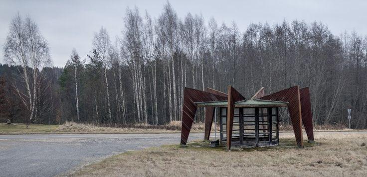 quibbll.com - Кристофер Хервиг (Christopher Herwig): Советская автобусная остановка - Эстония, г. Ниитсику