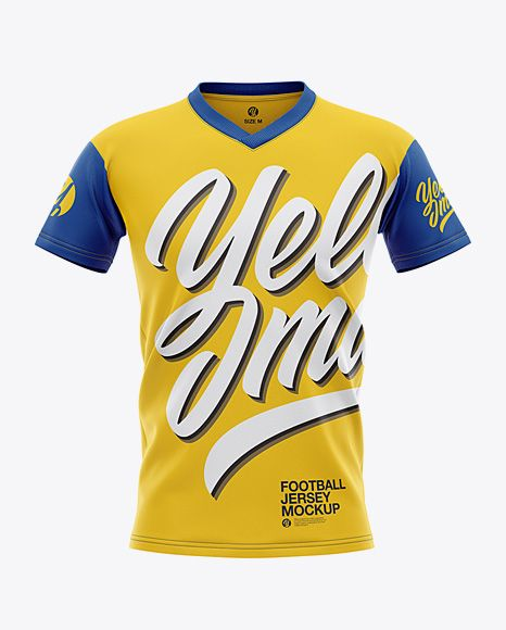 Download Men S V Neck Football Jersey Mockup Front View In Apparel Mockups On Yellow Images Object Mockups Clothing Mockup Shirt Mockup Mockup Free Psd