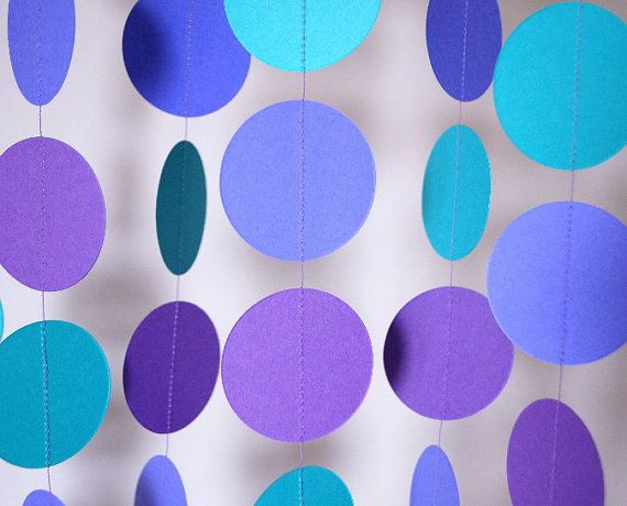 Birthday Party Garland Violet Teal & Purple by FabulouslyHomemade