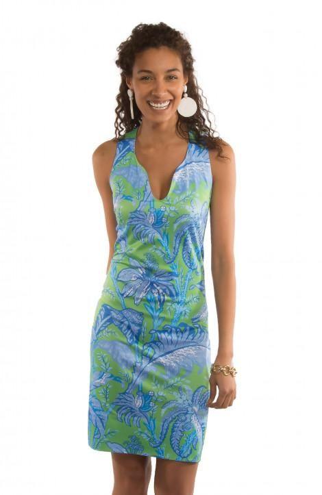 088a6e803ce Gretchen Scott Swerve Dress - Palm Palm in Blue Green - Size Large ...