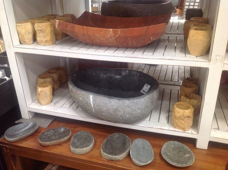 Stone Sinks, Soap Dishes, and Toothbrush Holders. #SoutheasternSalvage #HomeEmporium #homedecor