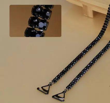 Black Rhinestone Bra Accessories