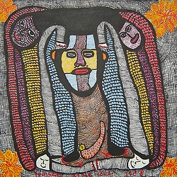 Prosper Pierre-Louis (1947–1997), was a Haitian artist, painter; and one of the main contributors to the local school of the Saint Soleil art movement. His paintings depicting mystical Vodou Loas and spirits are especially noteworthy. Pierre-Louis was born on October 12, 1947, in Bainet, near Jacmel, Haiti.