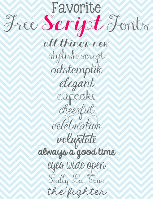 Doodles & Stitches: My Favorite Free Script Fonts  ~~ {12 free fonts w/ easy download links}