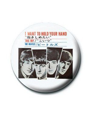 If your a fan of the Beatles, then you'll love this fun badge featuring the fab four!