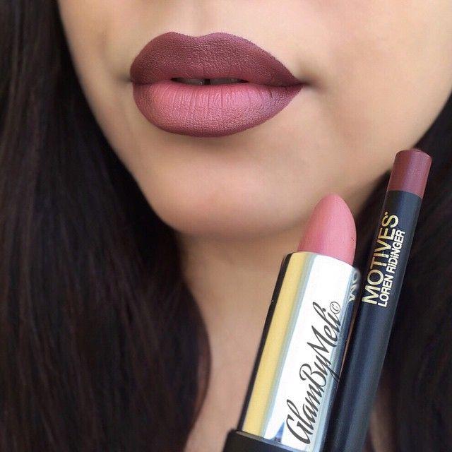 Effet rouge à lèvres Ombré. #maquillage