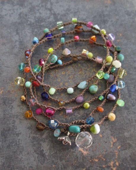 "Bunte Packung Armband-Halsband ""Lil ' RainBow Splash"" bunt, Thai Silber Blume…"