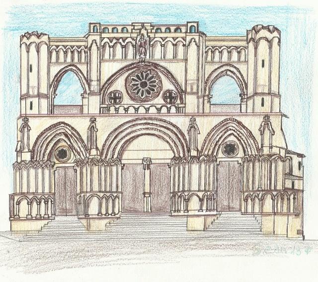 Fachada de la catedral de Cuenca, (España), ciudad patrimonio de ...