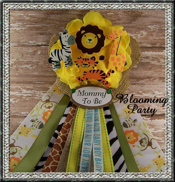Safari Baby Shower Corsage: 17 Best Images About Jr Baby Shower On Pinterest