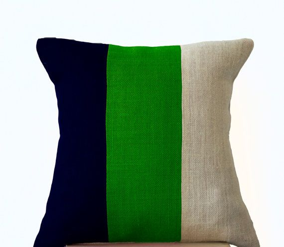 Modern Pillow Color block  Contemporary Pillows in by AmoreBeaute