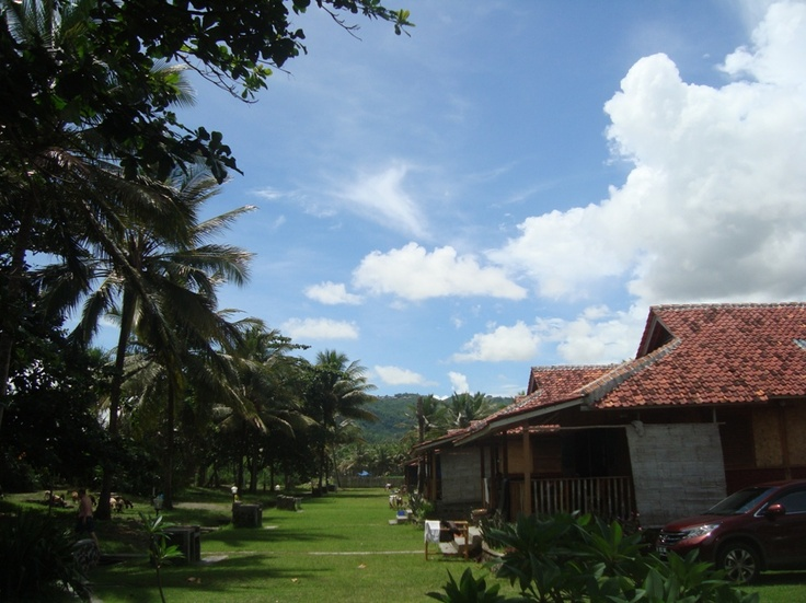 Ocean Queen Resort, Karanghawu Sukabumi, West Java. With traditional house+private BBQ+a little bit spooky if you make a noisy condition in the night