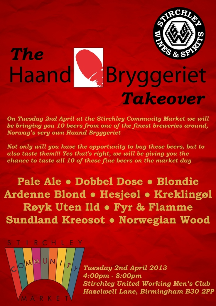 The Haand Bryggeriet Takeover - 2nd April 2013