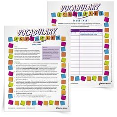 Download and print 17 Vocabulary-Building Games that will get students internalizing words in unique and thoughtful ways! free printables