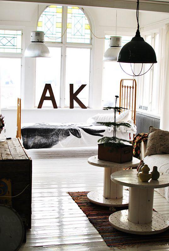 ... industrial living room ...