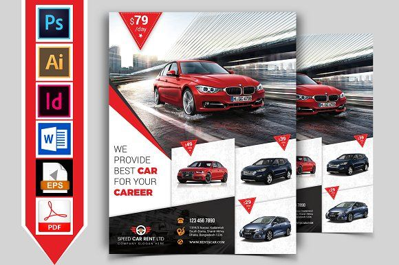 Rent A Car Flyer Template Vol 04 Flyer Template Flyer Poster