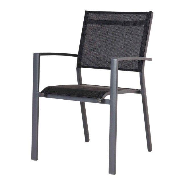 Krzeslo Z Podlokietnikami Blooma Batz Czarne Outdoor Furniture Outdoor Decor Outdoor Chairs