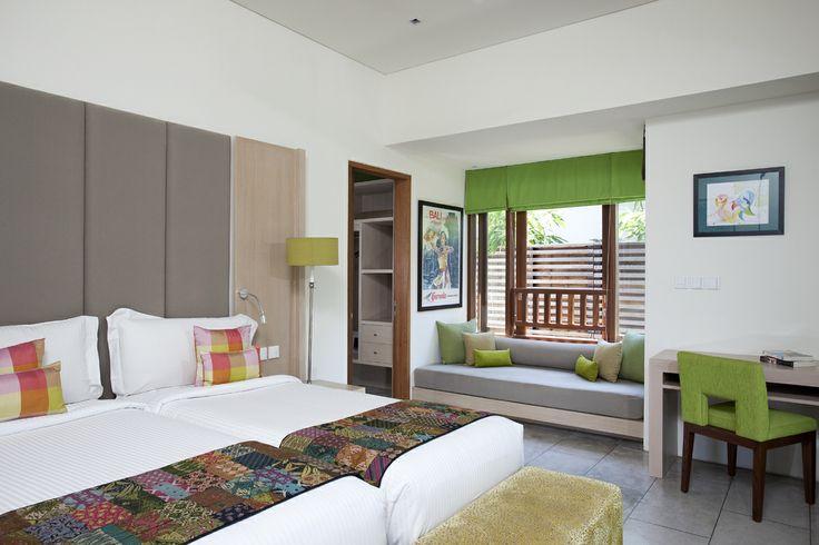 Villa Dewi Sri Bali - Twin bedroom photo  http://prestigebalivillas.com/bali_villas/villa_dewi_sri/20/