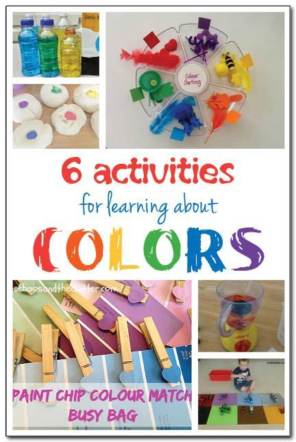 6 fun and playful activities for learning about colors that include color matching and color mixing - Colour Activities For Kids