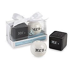 image of Kate Aspen® Mr. and Mrs. Salt and Pepper Shakers