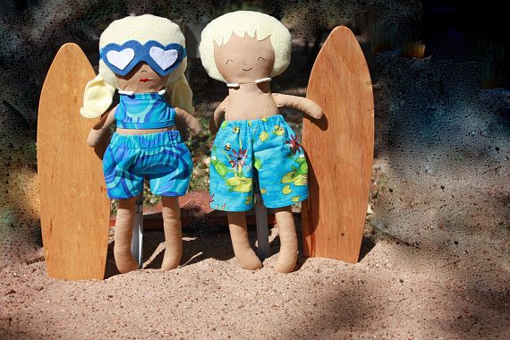 Surf Boy  Surf Girl Doll  Beach Boy  Beach Girl Doll