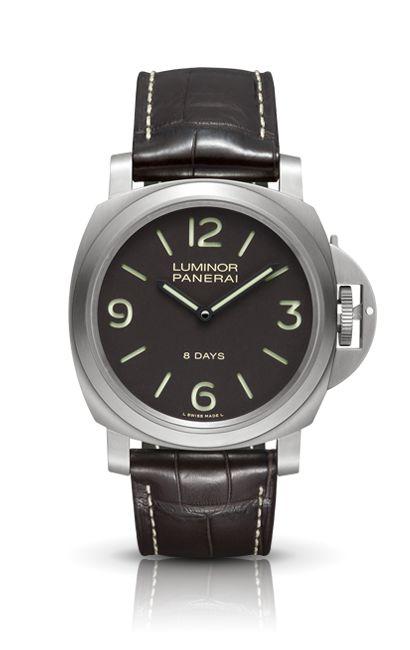 LUMINOR BASE 8 DAYS TITANIO PAM00562 - Collection LUMINOR - Watches Officine Panerai. ($8k) - 44mm