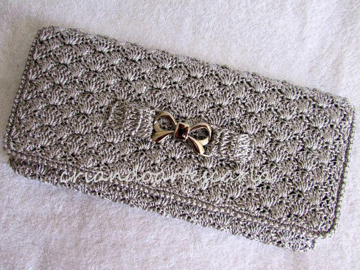 Criando Artes Carla: Clutch em Crochê